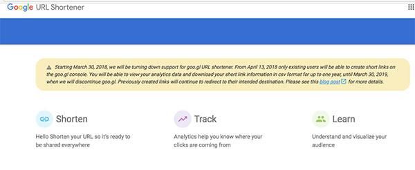 Google তার URL shorten service বন্ধ করে দিচ্ছে