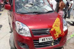 কোচবিহারে আক্রান্ত বামপ্রার্থী গোবিন্দ রায়,গাড়ীতেও ভাঙচুরের অভিযোগ