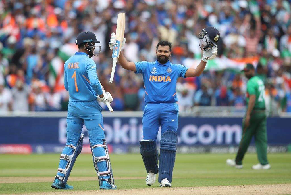 সেঞ্চুরি করলেন 'হিটম্যান' ৩১৪ রানে থামল ভারতের ইনিংস,