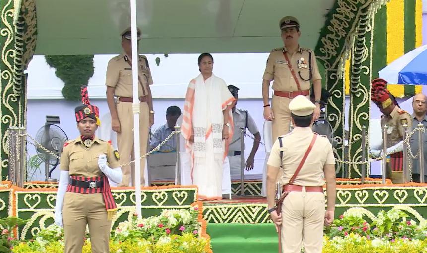 রেড রোডে স্বাধীনতা দিবসের কুচকাওয়াজ
