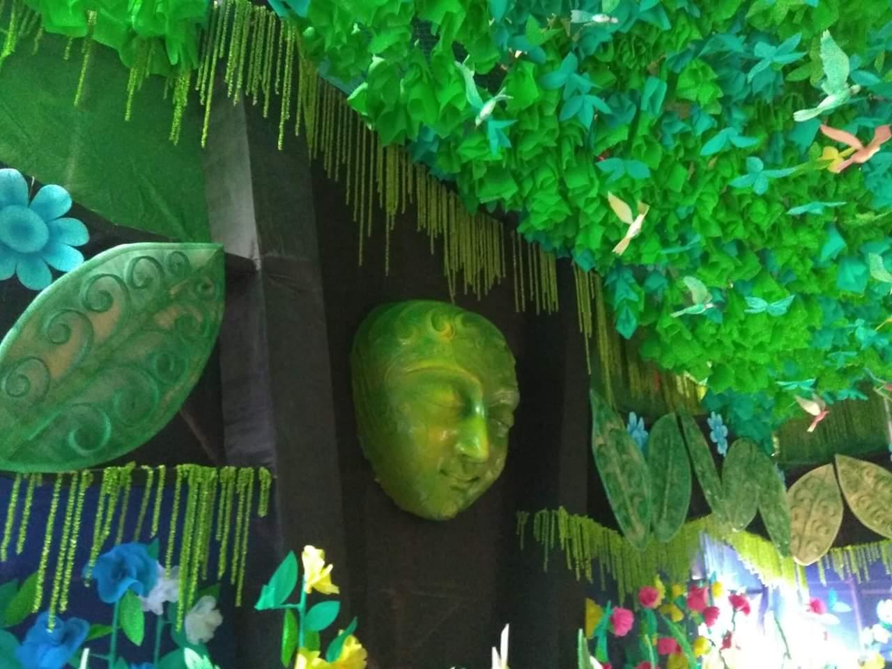 প্লাস্টিক দূষণ থেকে সবুজায়নের বার্তা দিচ্ছে গিধনী পূর্বাশার পুজো কমিটির