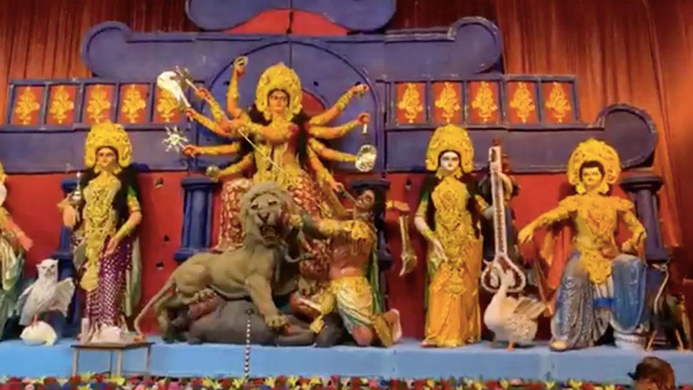 একডালিয়া এভারগ্রীন ক্লাবের দুর্গোৎসবের শুভ উদ্বোধন